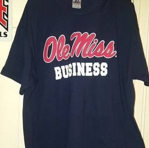 NWOT Ole Miss Business school tshirt  sz XL UNISEX